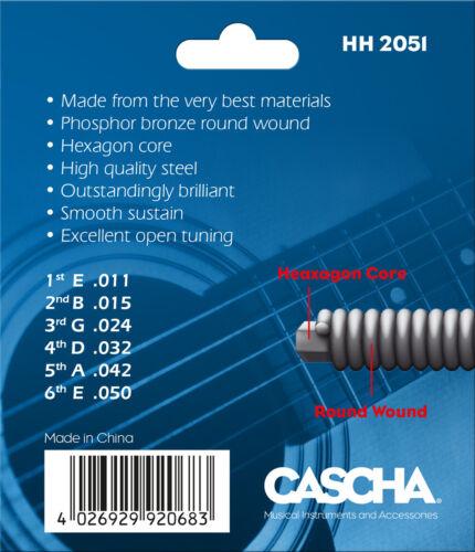 CASCHA HH 2051 Acoustic Guitar Strings .011-.050