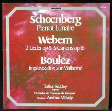 Schönberg Pierrot Webern Boulez Erika Sziklay Andras Mihaly LP EX, CV NM -
