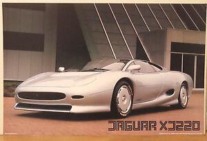 PRL) 1990 Jaguar xj220 Top Super Car Cars Vintage Affiche Art Print Poster'90 S   eBay