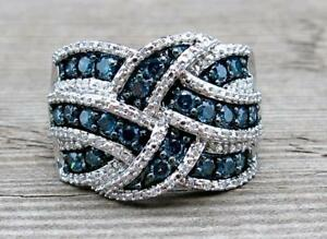 Sapphire-925-Silver-Ring-Infinity-Jewelry-Wedding-Engagement-Party-Size-6-10