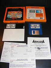 "Rare ARMADA Naval Strategy 3.5"" & 5.25"" Floppy Disk PC IBM Small Box Video Game"