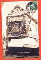 TOP < CARTE PHOTO 1913>CAFE DE LA PAIX ROCHEFORT SUR MER