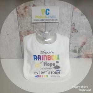 Clothing, Shoes & Accessories Baby & Toddler Clothing Tireless Personalised After Every Storm Rainbow Of Hope Bib Vest Grow Girls Gift Unisex *