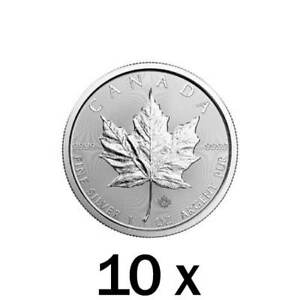 10 x 1 oz 2019 Silver Maple Leaf Coin RCM - Royal Canadian Mint
