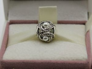 36bedee06 Image is loading AUTHENTIC-PANDORA-Luminous-Love-Knot-White-Crystal-Pearl-