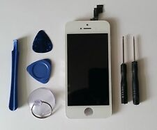 iPhone 5S LCD & Touch Screen Digitizer Assembly Replacement WHITE LCD + TOOLS UK