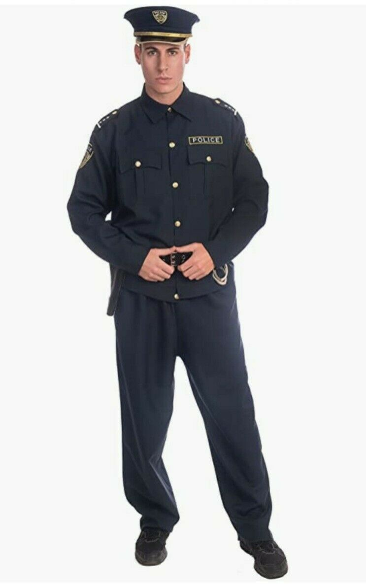 New Dress Up America Adult Police Costume Set, Size XL