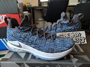 online store 27241 b6ba5 Image is loading Nike-LeBron-XV-15-Low-Signal-Blue-Thunder-