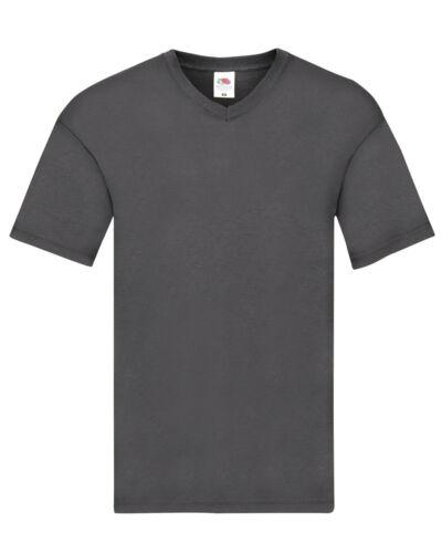 Fruit Of The Loom 100/% Cotton Mens  V-Neck T-Shirt  5 Pack 61426