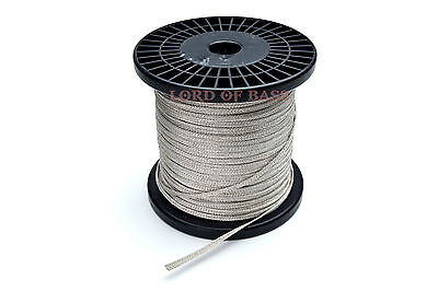 "1 ft Flat Braided 0.224"" ( 5.7mm) wide Speaker Tinsel Lead Wire"