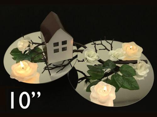"18 pc x Round 10"" Glass MIRROR Wedding Table Decoration"