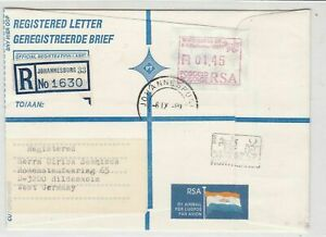 republic of south africa 1989 atm stamps cover ref 19185