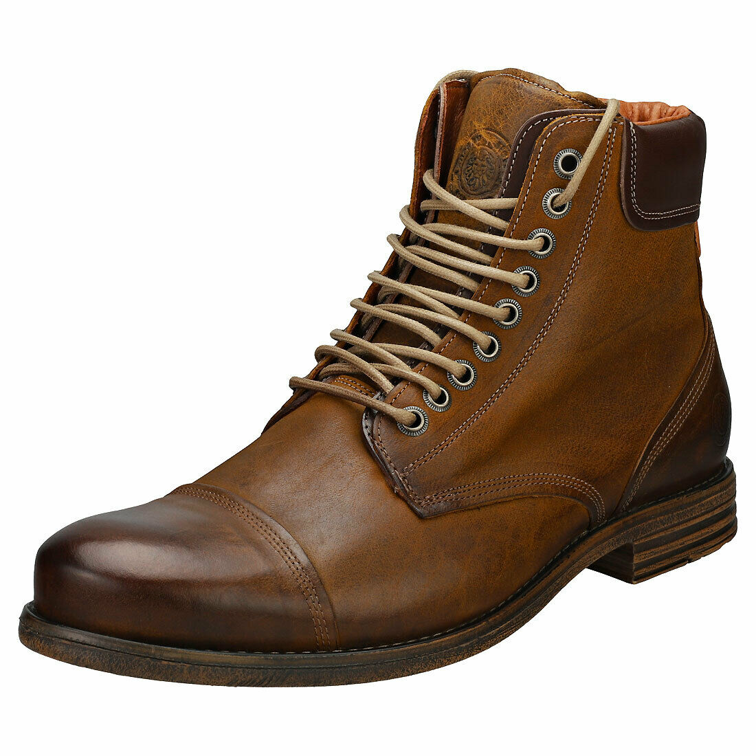 Sneaky Steve Doverlake Mens Cognac Leather Casual Stiefel