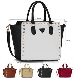 Ladies-Fashion-Bags-Women-039-s-Celebrity-Tote-Shoulder-Bag-Chic-Handbag-Shopper-a4