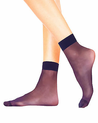 4 Pairs CARRIE Sheer Matt Ankle High Pop Socks 20 Denier