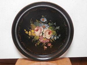Bandeja-placa-de-capacidad-pintado-a-mano-TESTI-1930-tray-dish-tablett-meseta-de