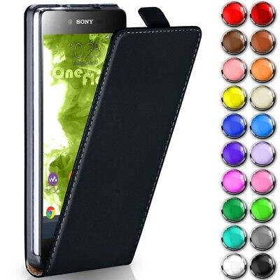Xperia Handyhülle Flip Case Ultra Slim 360 Grad Schutz Hülle Handy Tasche Etui