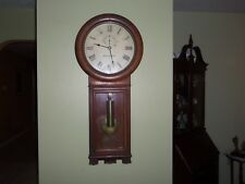 ANTIQUE SETH THOMAS WEIGHT DRIVEN, 1913-21, NO. 2 REGULATOR WALL CLOCK IN OAK.