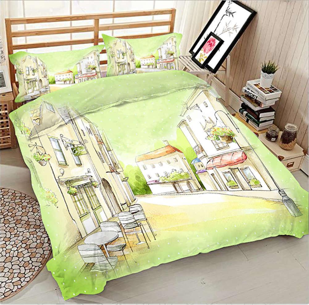 Genial Street Scene 3D Printing Duvet Quilt Doona Covers Pillow Case Bedding Set