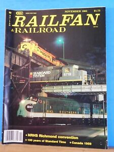 Details about Railfan & Railroad Magazine 1983 November NRHs Richmond  Convention