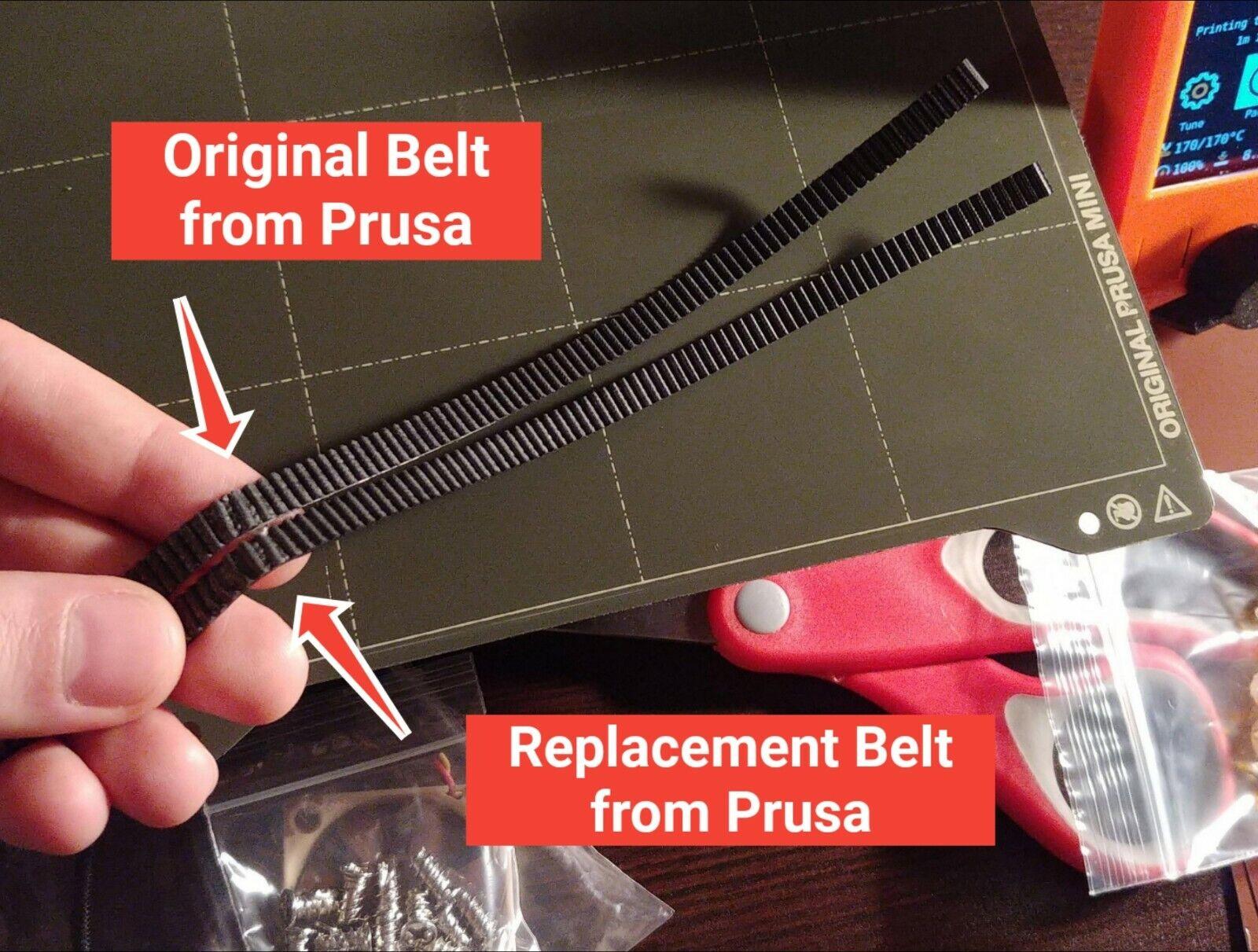 Genuine GATES 2GT PowerGrip GT3 Timing Belt *Set* for Original Prusa Mini