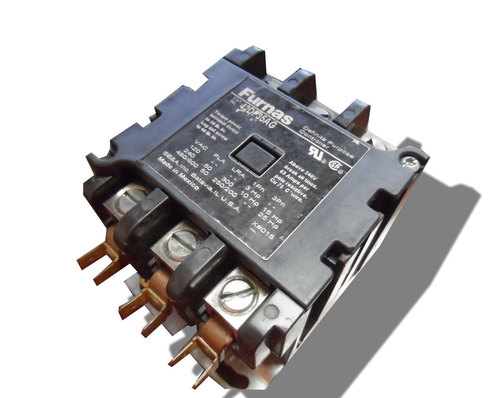 FURNAS 42BF25A U 30A 600V 4P CoilNOT INCLUDED USED