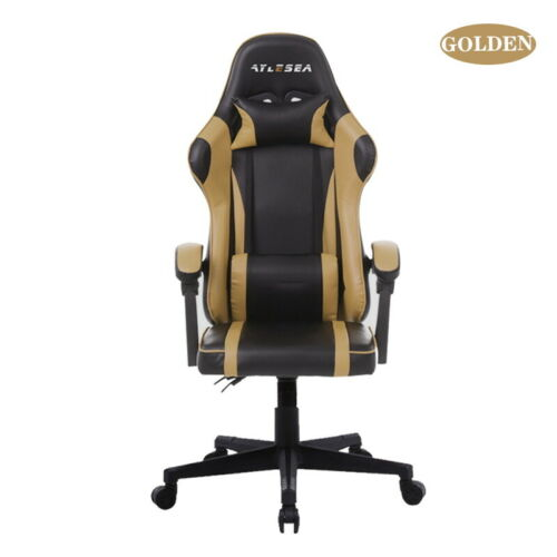 Gaming Office Chair Racing Game Game Computer Soft Seat PU Leather with Pillow