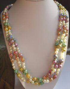 """Beau collier bijou perles résine multicolores 3 rangs attache couleur or 3301 - France - État : Occasion : Objet ayant été porté. Consulter la description du vendeur pour avoir plus de détails sur les éventuelles imperfections. Commentaires du vendeur : """"tous nos objets sont en bon état.Nous les vérifions mais si vous const - France"""