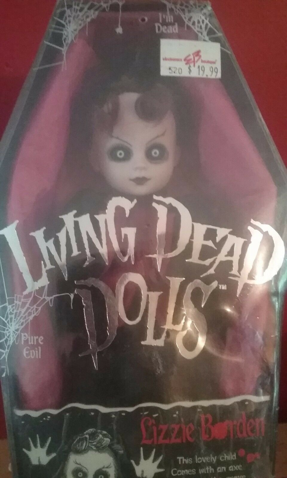 NEW factory sealed lizzie borden living dead doll serie 2