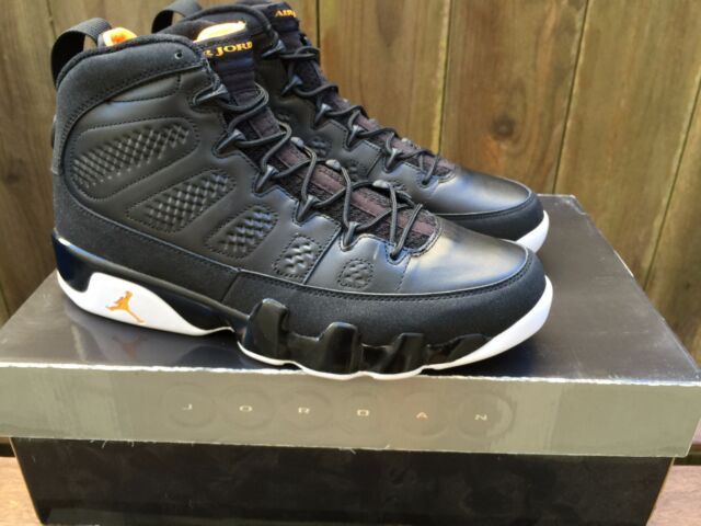 san francisco c133c 255d2 2010 NIKE AIR JORDAN IX 9 sz 9.5 RETRO Black Citrus-White 302370 004