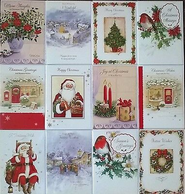 Birthday card 12 packs collection on ebay pack of 12 traditional nostalgic christmas greeting cards happy merry xmas cards m4hsunfo