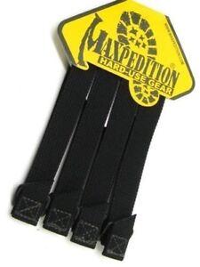Maxpedition-5-034-TacTie-Attachment-MOLLE-Strap-Tactical-PALS-Equipment-4pk-BLACK