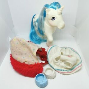 Vintage-G1-My-Little-Pony-MLP-Majesty-the-unicorn-1983-With-outfits-and-boots