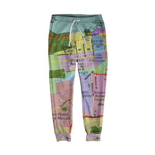 Francisco Edm In Beloved Map Made Usa xlarge Joggers Brand San New Small Shirts x6qwxIpP