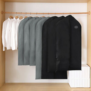 1/5/10Pc Garment Suit Bags Dress Clothes Coat Cover Breathable Protector Storage