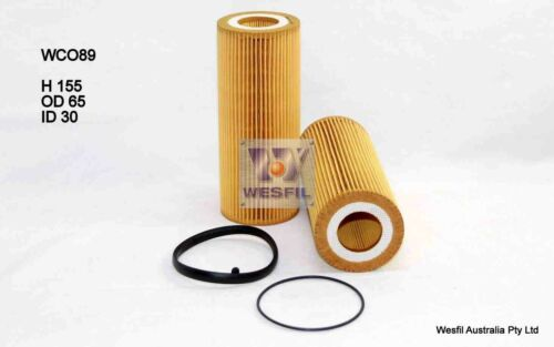 WESFIL OIL FILTER FOR Audi A6 2.8L FSi 2011 07//11-on WCO89