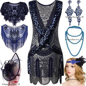 1920s-Flapper-Dress-Vintage-Charleston-Gatsby-Sequin-Embellished-Short-Prom-Blue