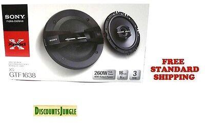 "NEW Sony XS-GTF1638 6.5"" 3-Way Xplod Series Coaxial Car Audio Speakers 260 watts"