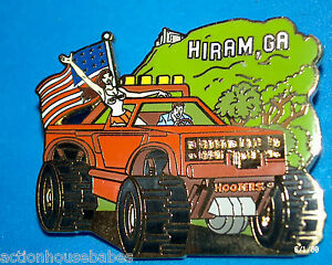 Details About Hooters Restaurant Big Red Truck American Flag Girl Guy Hiram Ga Lapel Pin
