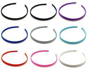 Narrow-Satin-Covered-Plain-Alice-Band-Hair-Band-Headband-1cm-Hair-Accessories