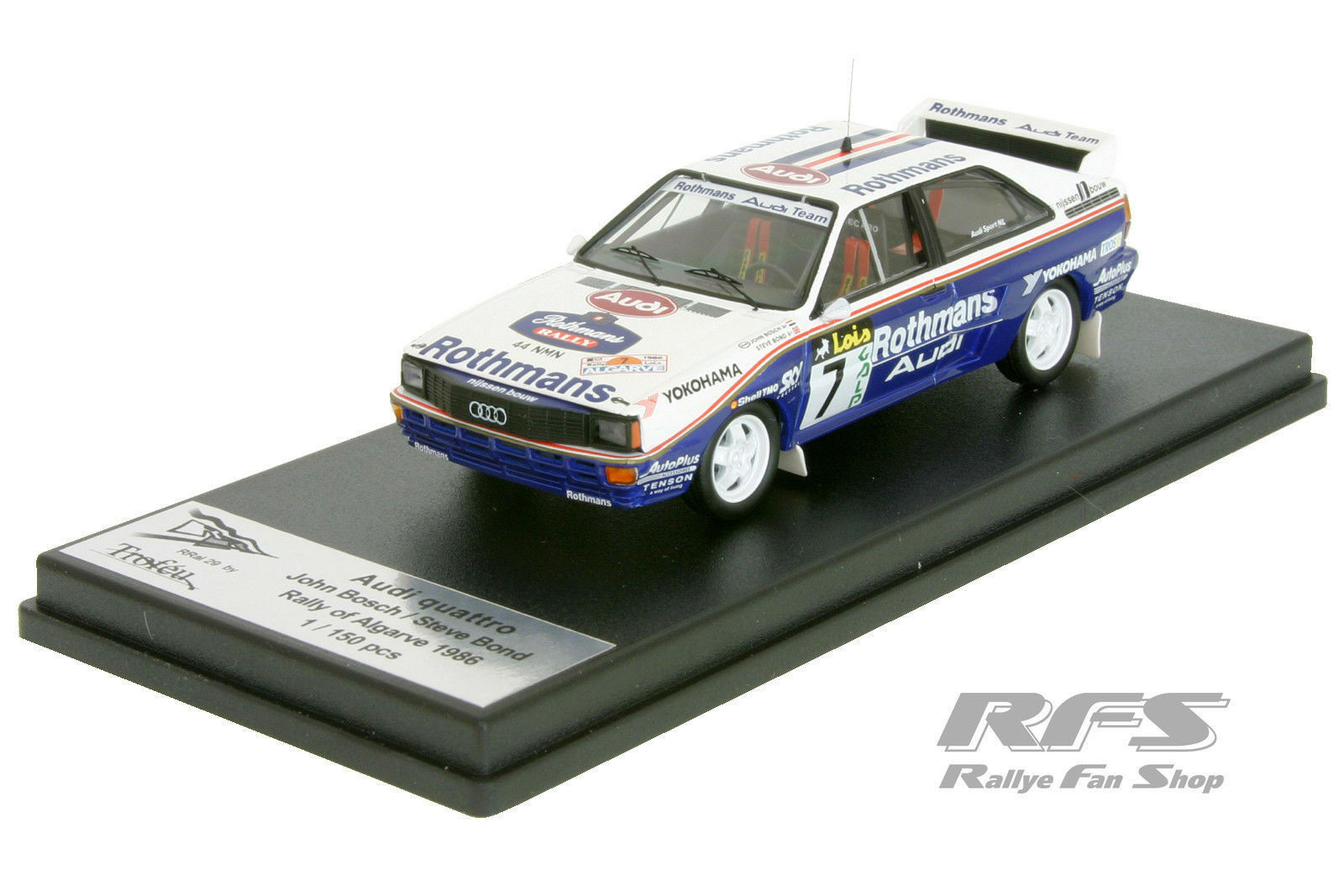 AUDI Quattro a2-Team rossohmans-rally Algarve 1986 - 1 43 Trofeu RRAL 029mr