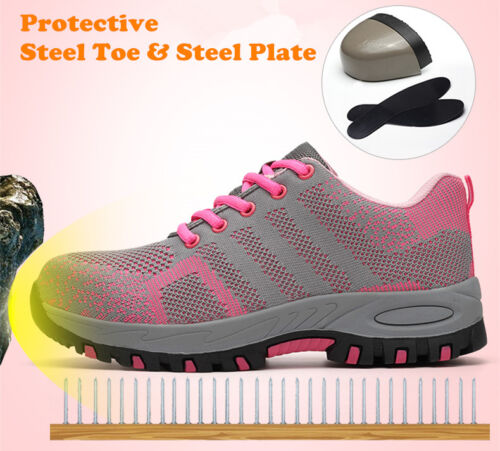 Climbing Fashion Hiking Steel Shoes Womens Safety Breathable Boots Work Toe 4n0ddwqO