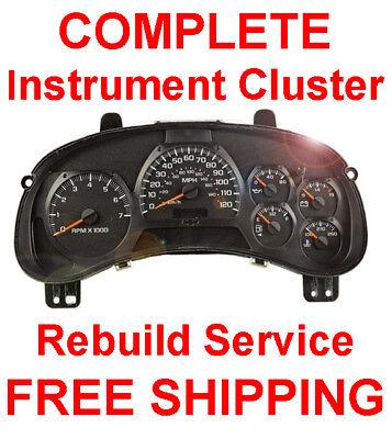 2007 Chevy Suburban  Instrument Cluster Repair Service PN 15929468