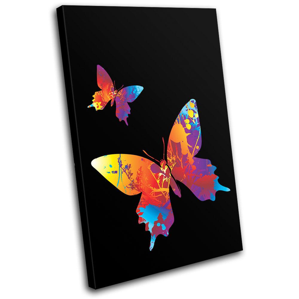 Butterfly Illustration SINGLE TELA TELA TELA parete arte foto stampa dbd6b3