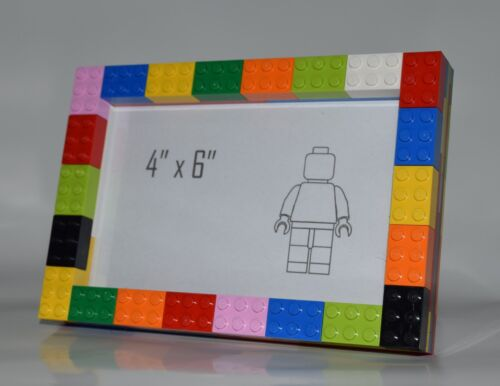 """Frame Made entirely from Lego Multi Coloured Lego Photo Frame 4/""""x6/"""" with Glass"""