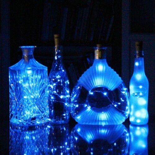 1//2M 10//20 LED Wine Bottle Fairy String Light Cork Starry Night Xmas Wedding UK