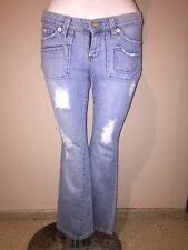 Joy light denim distressed jeans with cute pockets size 5