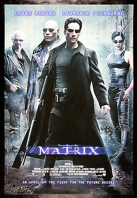 THE MATRIX * CineMasterpieces ORIGINAL MOVIE POSTER ROLLED DS NM-M 1999