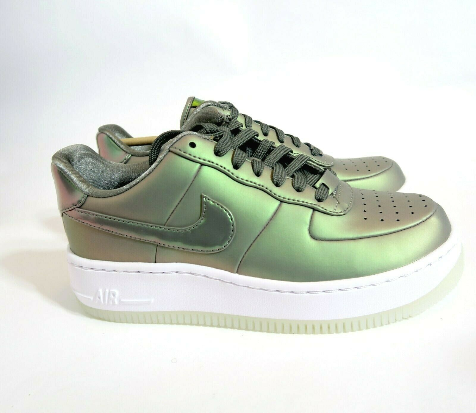 quality design 1346b 7c4cf Nike Wnms Wnms Wnms Air Force 1 Upstep PRM LX Dark Stucco Green AA3964-001