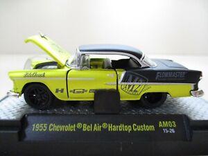 M2 1955 CHEVROLET BEL AIR HARDTOP CUSTOM White Grey #55